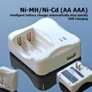 Ni-MH/Ni-Cd (AA AAA) intelligent battery charger automatically stop quickly USB charging