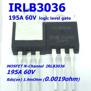 IRLB3036 Logic-Level 195A/60V Rds(on) 0.0019 Ohm N-Channel