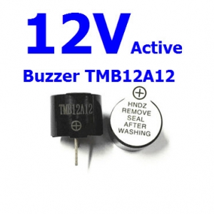 Active Buzzer 12V TMB-12A12 TMB12A12 (บัซเซอร์ รวมวงจรกำเนิดความถี่ เข้าไว้ในชิ้นเดียวกัน)