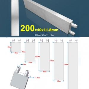 Aluminum Water Cooling Block 40x200x12mm Liquid Cooler Water block