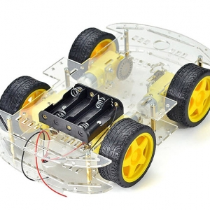 4WD Smart Car Chassis Kit Tracing Car With Speed Encoder 1:48 for Arduino