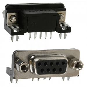 DB9 D-Sub Connector Right Angle 9Pins , Female