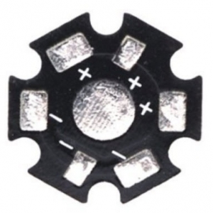 LED aluminum plate 1w 3w 5w High Power LED lamp beads Universal radiator plate fins