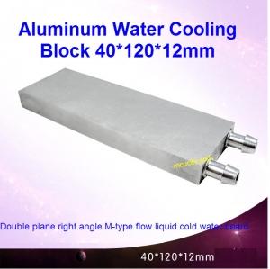 Aluminum Water Cooling Block 40x120x12mm Liquid Cooler Water block