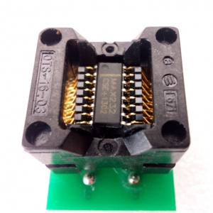 SOIC16 Socket 150mil to DIP16 Adapter(SOIC8,SOIC14,SOIC16 to DIP16)
