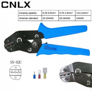 CNLX SN-02C crimping pliers european style terminal clamp self-adjusting capacity 0.25-2.5mm2 14-24AWG perfect crimp hand tools