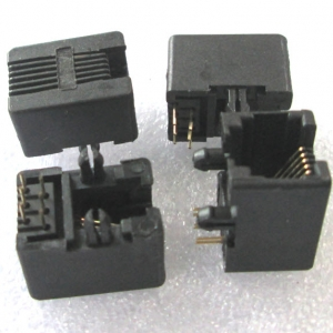 RJ11 6P6C Female PCB Mount Telephone Modular Connector