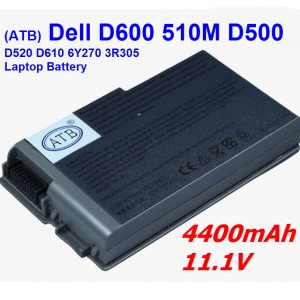 Battery For dell D500 D505 D510 D610 530 D600 D520 W1605 YD165 G2053A01 C1295 4P894