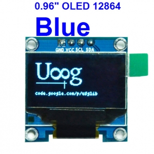 BLUE 0.96 inch OLED LCD display module 12864 (I2C interface module)