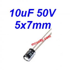 10uF 50V 105c Electrolytic Capacitor 50V 10UF 5x7mm