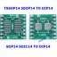 SOP14 SSOP14 TSSOP14 to DIP14 PCB SMD DIP/Adapter plate Pitch 0.65/1.27mm thumbnail 1