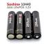 4 pieces/lot Soshine 10440 battery 3.2V 280mAh LiFePO4 thumbnail 3