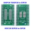 SOIC28 SOP28 SSOP28 TSSOP28 to DIP28 PCB SMD DIP/Adapter plate Pitch 0.65/1.27mm thumbnail 1