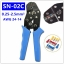 CNLX SN-02C crimping pliers european style terminal clamp self-adjusting capacity 0.25-2.5mm2 14-24AWG perfect crimp hand tools thumbnail 9
