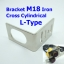 Bracket M18 Iron Cross Cylindrical L-Type thumbnail 1