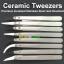 Ceramic tweezer แหนบเซรามิคทนความร้อน คีมเซรามิค แหนบจับชิ้นงานทนความร้อน thumbnail 1