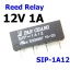 SIP-1A12 Reed Switch Relay 12V Voltage 1A thumbnail 1