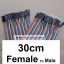 ( 30 cm ) 40 pin to 40 pin (Female-Male) สาย (2.54mm) thumbnail 1