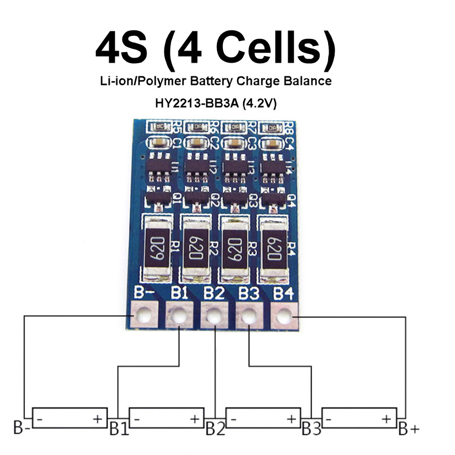 HY2213-BB3A 3S /4S /8S Li-ion/Polymer Battery Charge Balance 4S 4Cell